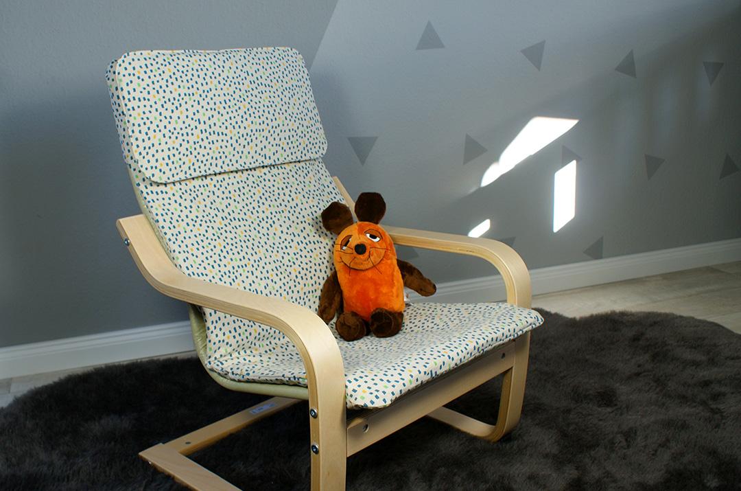 Bezug für Ikea Poäng Kindersessel selber nähen