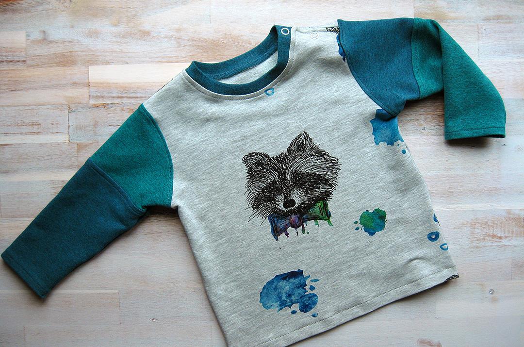 Sweatshirt nähen für den Kindergarten