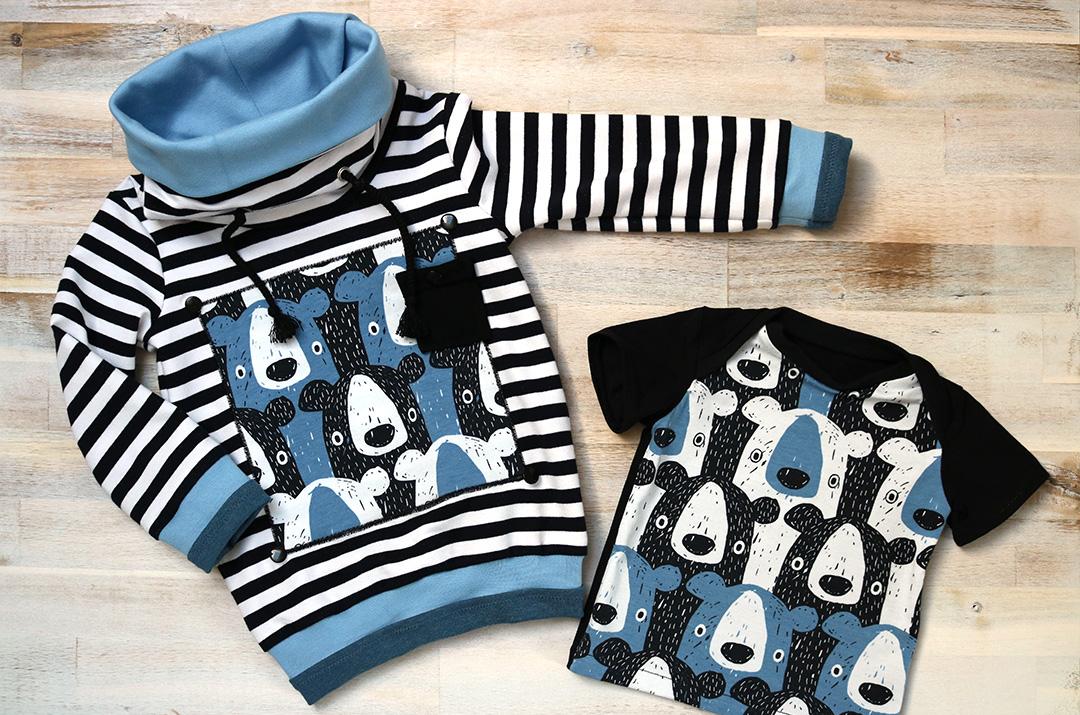 Mini Mister und Baby-Basic-Shirt