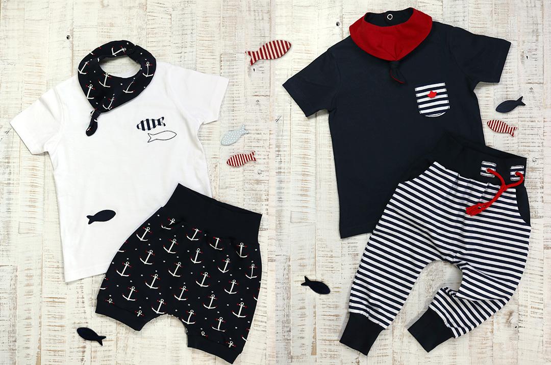 Maritime Outfits für Kinder nähen