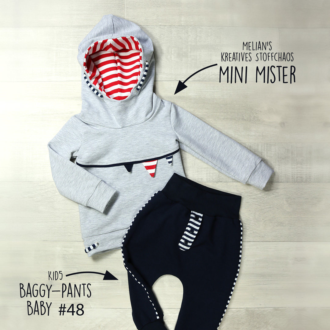 Schnittmuster Mini Mister und Baggy-Pants-Baby als SET