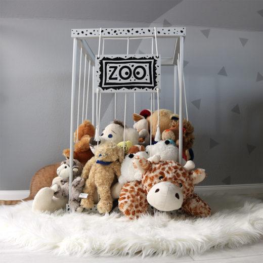 DIY Stofftier Zoo - Aufbewahrung