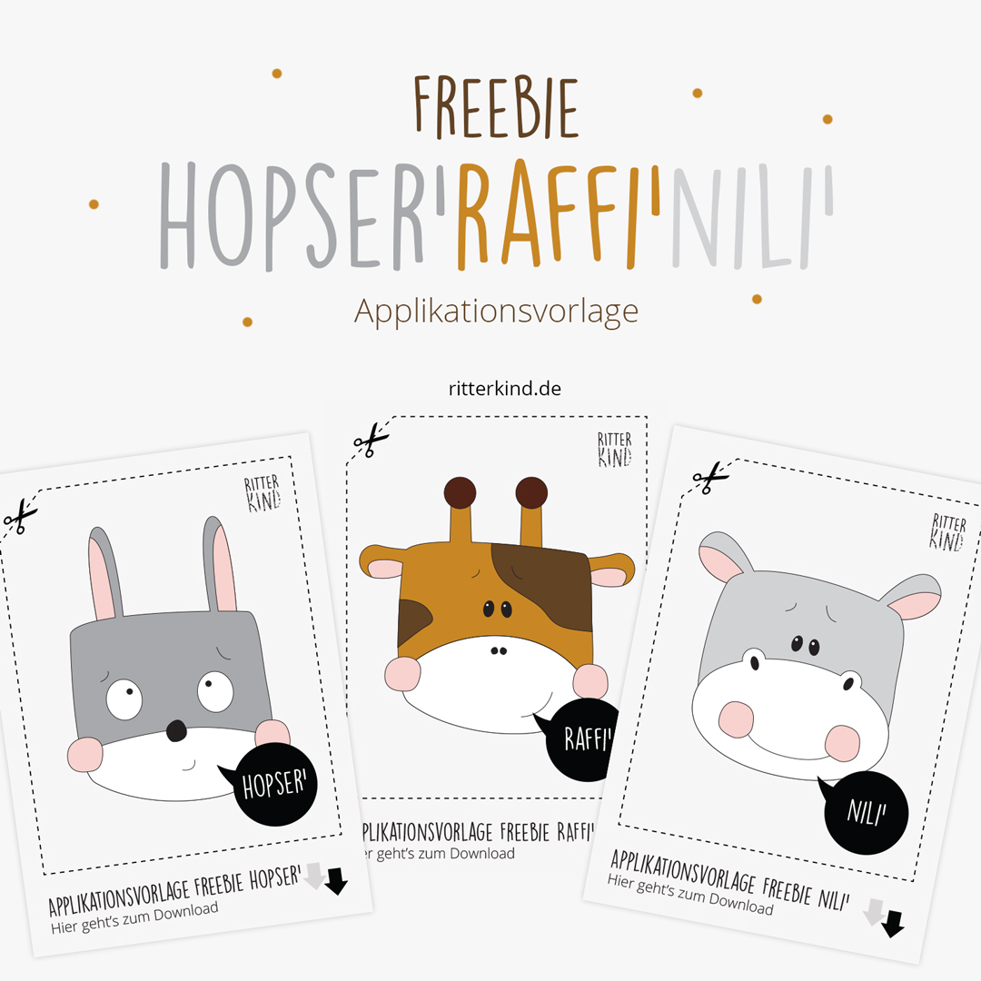 Applikationsvorlagen Freebies HOPSER', RAFFI' & NILI'