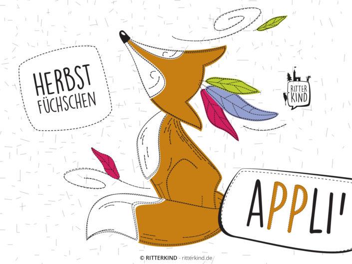 eBook Applikationsvorlage Herbst Füchschen